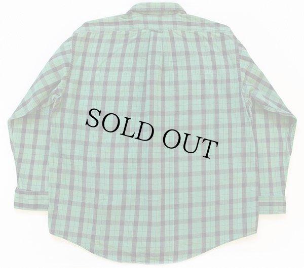 画像2: 90s USA製 FILSONフィルソン チェック ヘービーコットンシャツ 緑×黒 XXL