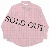 90s USA製 FILSONフィルソン チェック ヘービーコットンシャツ 赤×黒 XXL
