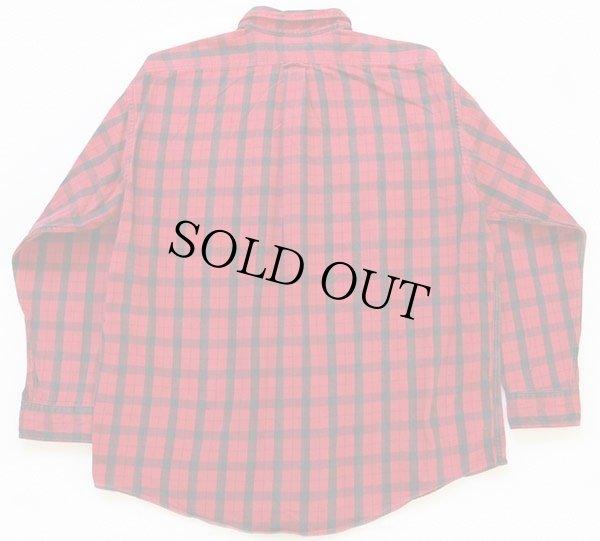 画像2: 90s USA製 FILSONフィルソン チェック ヘービーコットンシャツ 赤×黒 XXL