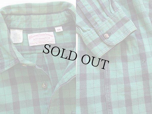 画像3: 90s USA製 FILSONフィルソン チェック ヘービーコットンシャツ 緑×黒 XXL