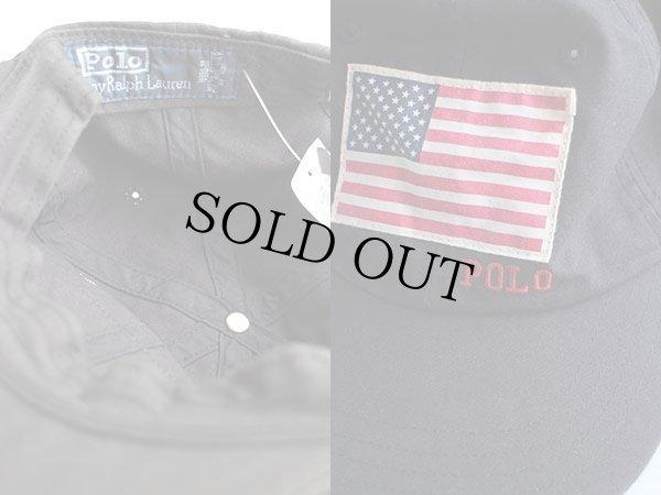 画像3: 90sデッドストック ポロ ラルフローレン 星条旗 パッチ付き コットンキャップ 黒