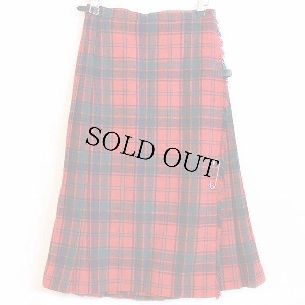 画像1: スコットランド製 Laird-Portch タータンチェック ウール キルトスカート w26