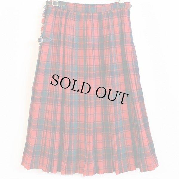 画像2: スコットランド製 Laird-Portch タータンチェック ウール キルトスカート w26