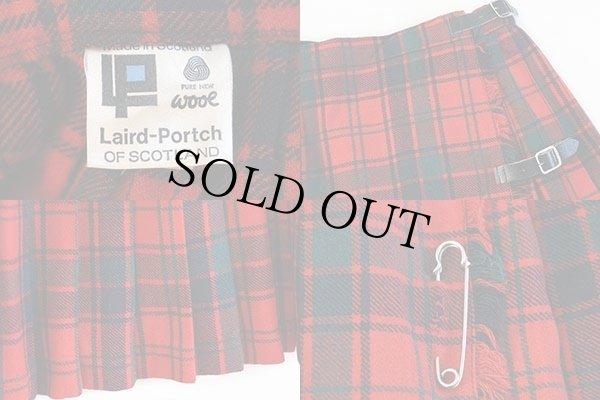 画像3: スコットランド製 Laird-Portch タータンチェック ウール キルトスカート w26