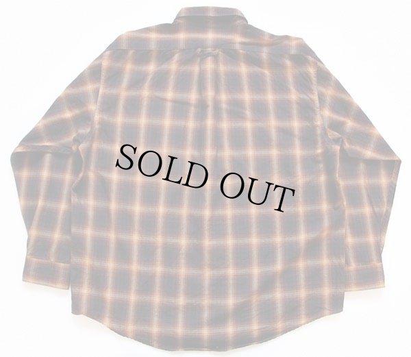 画像2: FILSONフィルソン オンブレチェック ボタンダウン ウールシャツ XL