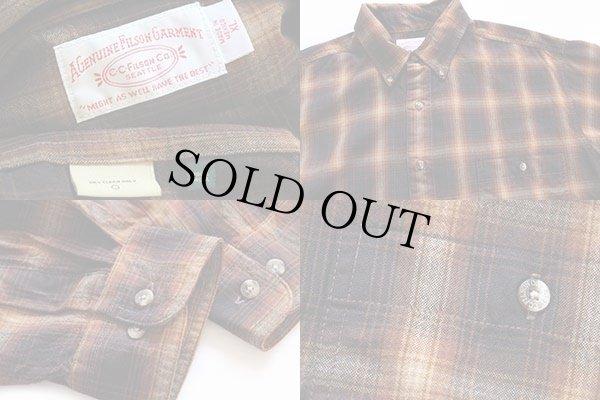 画像3: FILSONフィルソン オンブレチェック ボタンダウン ウールシャツ XL