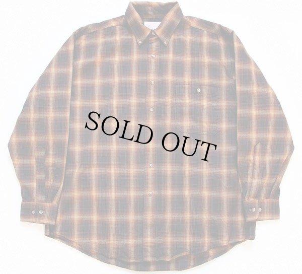 画像1: FILSONフィルソン オンブレチェック ボタンダウン ウールシャツ XL