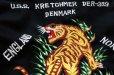 画像6: 70s U.S.NAVY U.S.S. KRETCHMER DER-329 タイガー刺繍 ウール スーベニア ツアージャケット 黒