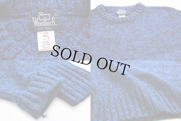 画像3: 80s Woolrichウールリッチ ウールセーター 霜降り青 M
