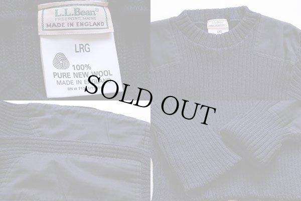 画像3: 80s 英国製 L.L.Bean ウールニット コマンドセーター 紺 L