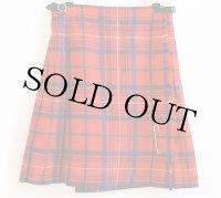 スコットランド製 Laird-Portch タータンチェック ウール キルトスカート w26