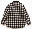 画像2: 80s L.L.Bean OLDFRIENDS バッファローチェック ウールシャツ 白×黒 (2)