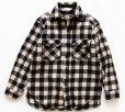 画像1: 80s L.L.Bean OLDFRIENDS バッファローチェック ウールシャツ 白×黒 (1)