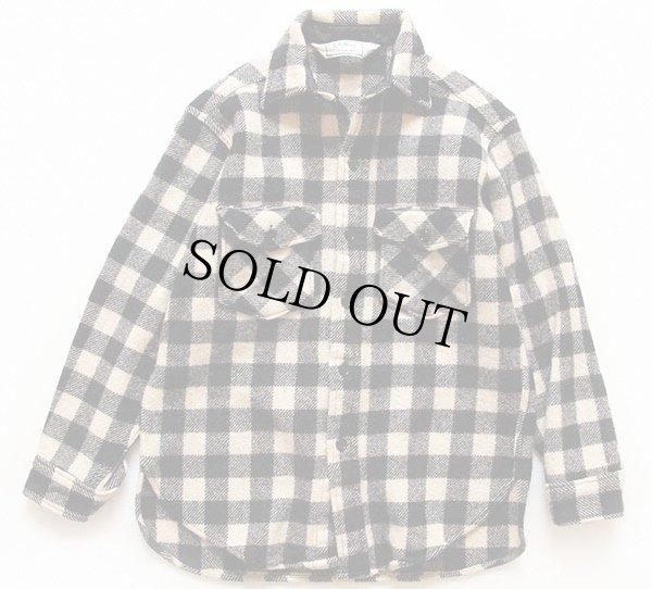 画像1: 80s L.L.Bean OLDFRIENDS バッファローチェック ウールシャツ 白×黒