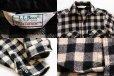 画像3: 80s L.L.Bean OLDFRIENDS バッファローチェック ウールシャツ 白×黒 (3)