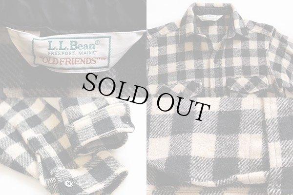 画像3: 80s L.L.Bean OLDFRIENDS バッファローチェック ウールシャツ 白×黒