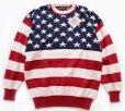 画像1: 90sデッドストック USA製 OLD GLORY 星条旗柄 コットンニット セーター XL (1)