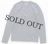 Barbourバブアー GREATCOAT 編み柄 切り替え コットンニット セーター 霜降り紺 M