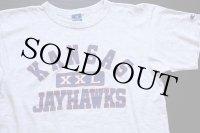 90s USA製 Championチャンピオン KANSAS XXL JAYHAWKS Tシャツ オートミール L