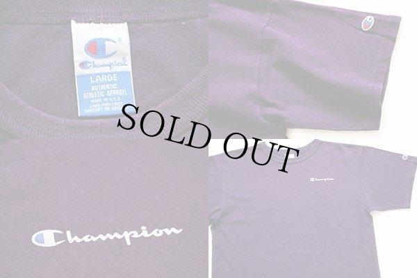 画像4: 90s USA製 Championチャンピオン ワンポイント ロゴ コットンTシャツ 紫 L