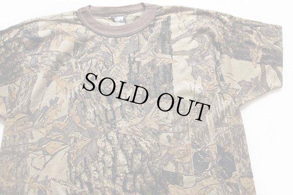 画像1: 80sデッドストック USA製 ACE SPORTSWEAR スナイパーカモ ポケットTシャツ M