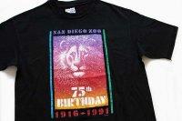 90s USA製 Hanesヘインズ SAN DIEGO ZOO ライオン コットンTシャツ 黒 L