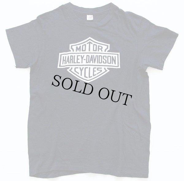 画像2: 70s USA製 Hanes HARLEY-DAVIDSONハーレー ダビッドソン ロゴ 両面プリント コットンTシャツ 黒 M