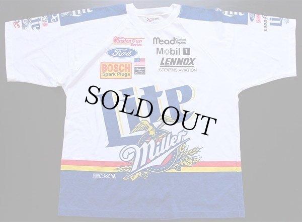 画像2: 90s USA製 Miller Lite NASCAR 染み込みプリント Tシャツ XL