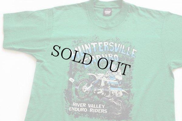 画像1: 90s USA製 HUNTERSVILLE ENDURO モトクロス Tシャツ 緑 L