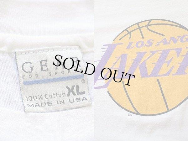 画像3: 90s USA製 LOS ANGELES LAKERSレイカーズ ロゴ コットンTシャツ 白 XL