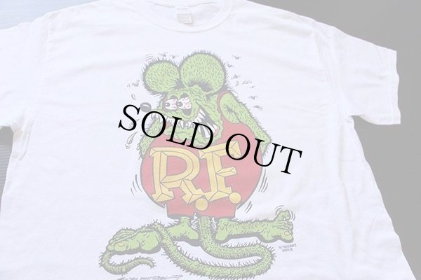 画像1: RATFINKラットフィンク コットンTシャツ 白 L