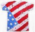 画像2: 80s USA製 BELTON 星条旗柄 全面ペイント コットンTシャツ L (2)