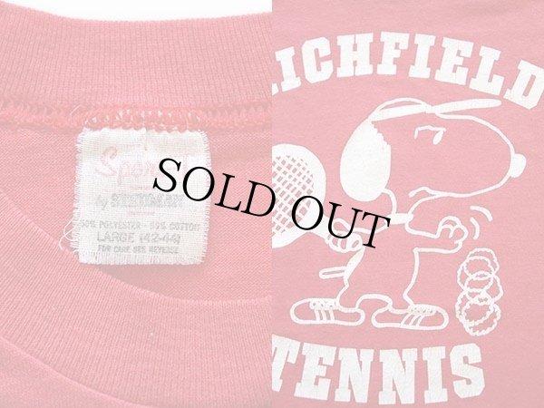 画像3: 80s USA製 RICHFIELD TENNIS スヌーピー Tシャツ 赤 L