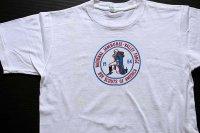 60s BSA ボーイスカウト NATIONAL JAMBOREE 染み込みプリント コットンTシャツ 白 M