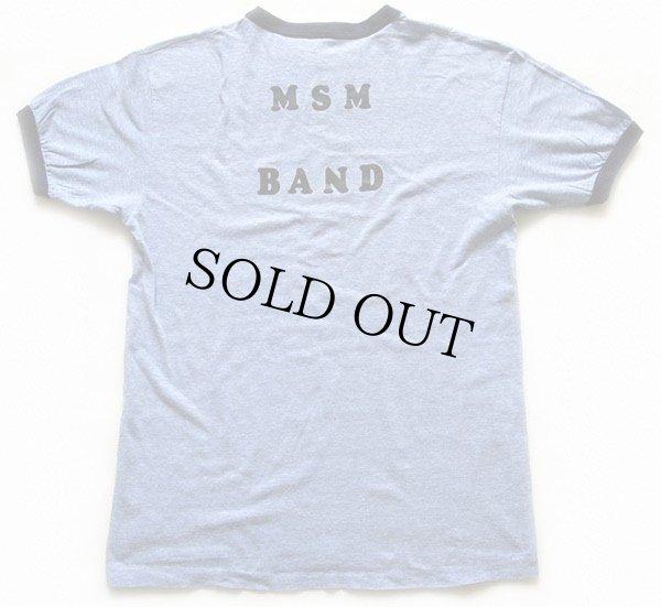 画像3: 70s USA製 Hanes I'M A BANDIE !! MSM BAND ライオン 指揮者 リンガーTシャツ 杢ブルー×紺 L