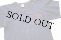 70s USA製 RUSSELLラッセル Beverly Hills Cross Country ウイングフット コットンTシャツ ナス紺 フェード M