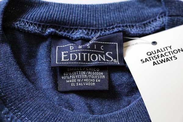 画像3: デッドストック basic EDITIONS 無地 ノースリーブ Tシャツ 紺 S