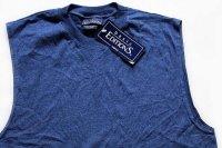 デッドストック basic EDITIONS 無地 ノースリーブ Tシャツ 紺 S