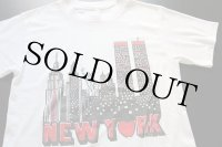 80s USA製 NEW YORK Tシャツ 白 M