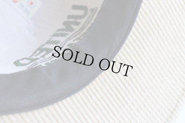 画像3: 80s USA製 UNITED SHEET METAL ロゴ刺繍 太畝コーデュロイキャップ ベージュ
