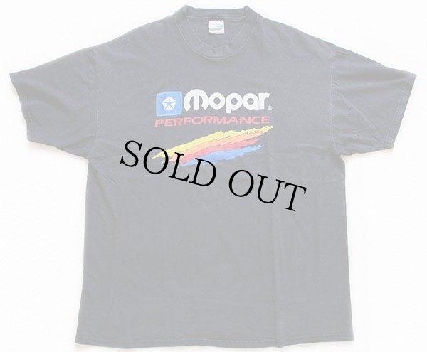 画像2: 90s Hanesヘインズ Mopar PERFORMANCE クライスラー コットンTシャツ 黒 XXL