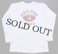 60s USA製 CHAMPIONチャンピオン タタキタグ STATE HIGH COACH コットン フットボールTシャツ 白 L
