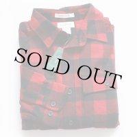 未使用★L.L.Bean バッファローチェック コットン シャモアクロスシャツ 赤×黒 M
