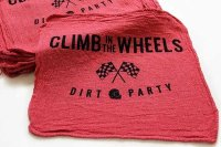 新品★CLIMB IN THE WHEELS DIRT PARTY ウエス 赤