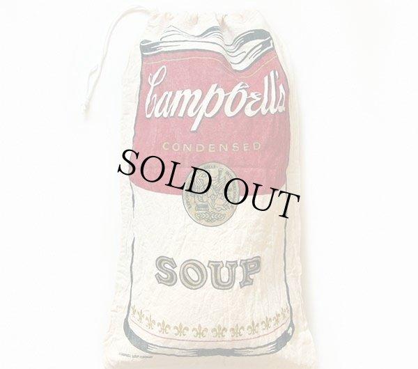画像2: ビンテージ Campbell's SOUP キャンベル スープ 染み込みプリント 布袋★アンディウォーホル