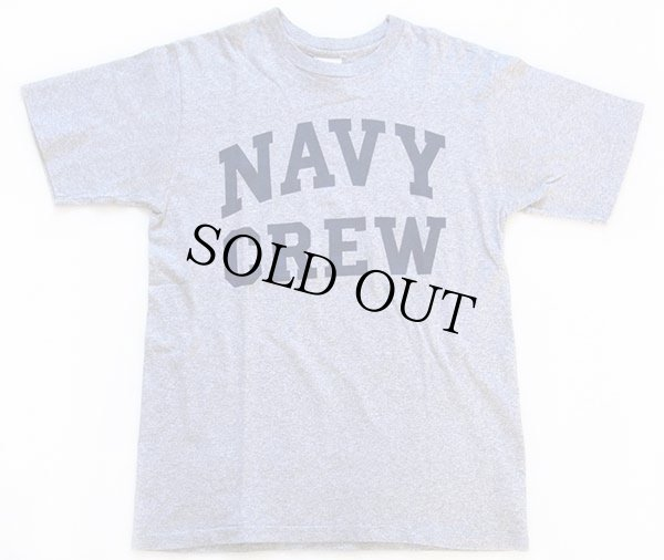 画像2: USA製 The Cotton Exchange NAVY CREW Tシャツ 杢グレー M