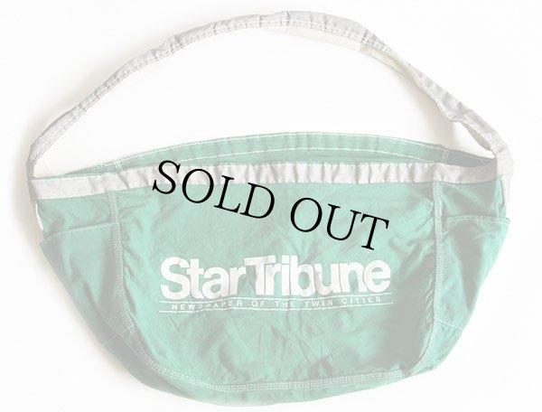 画像1: ビンテージ StarTribune キャンバス ニュースペーパーバッグ 緑