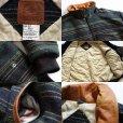 画像3: 90s カナダ製 Mid-West Garment 中綿入り ランダムボーダー ウール ブランケット ジャケット L (3)