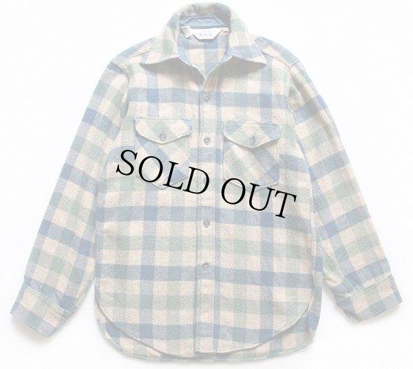 画像1: 70s Woolrichウールリッチ ブロックチェック ウールシャツ S