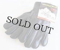 デッドストック★カナダ製 GOODWEAR GLOVE ボアライナー レザーグローブ 黒 L★手袋